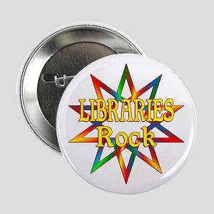 "Libraries Rock 2.25"" Button"