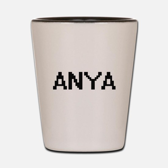 Anya Digital Name Shot Glass