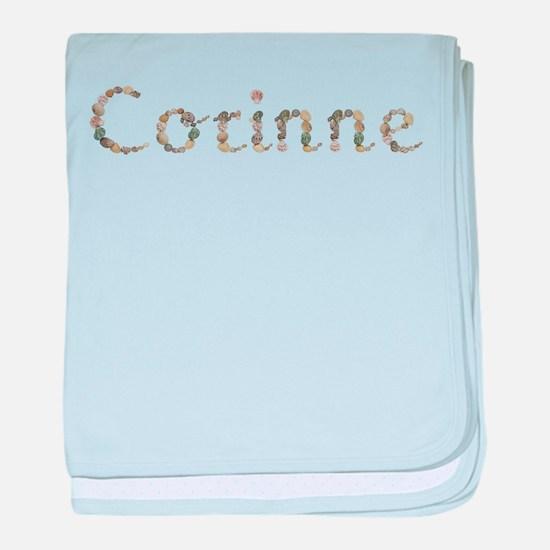 Corinne Seashells baby blanket