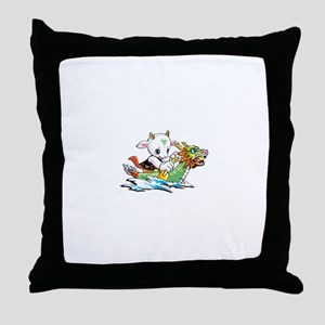 dragonboat2 Throw Pillow