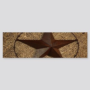 burlap western texas star Bumper Sticker