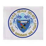 USS HEALY Throw Blanket
