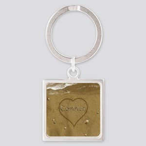 Conner Beach Love Square Keychain