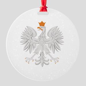Polish White Eagle Round Ornament