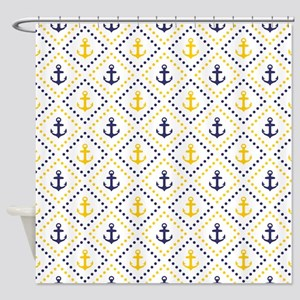 Diamond Anchor NY Shower Curtain