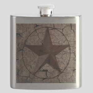 rustic texas lone star Flask