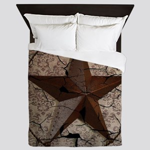 rustic texas lone star Queen Duvet