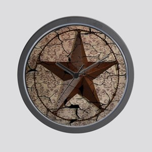 rustic texas lone star Wall Clock