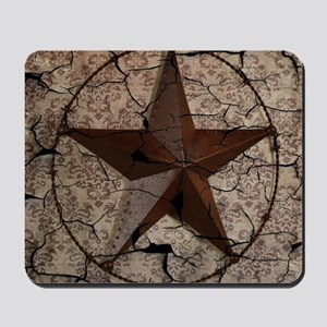 rustic texas lone star Mousepad
