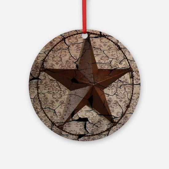 rustic texas lone star Round Ornament