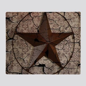 rustic texas lone star Throw Blanket
