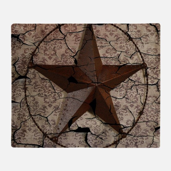 rustic texas lone star Throw Blanket