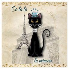 Oo-la-la French Kitty Princess Poster