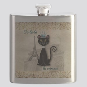 Oo-la-la French Kitty Princess Flask