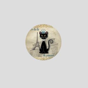 Oo-la-la French Kitty Princess Mini Button