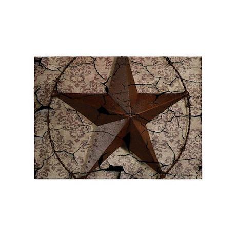 Rustic Texas Lone Star 5 X7 Area Rug