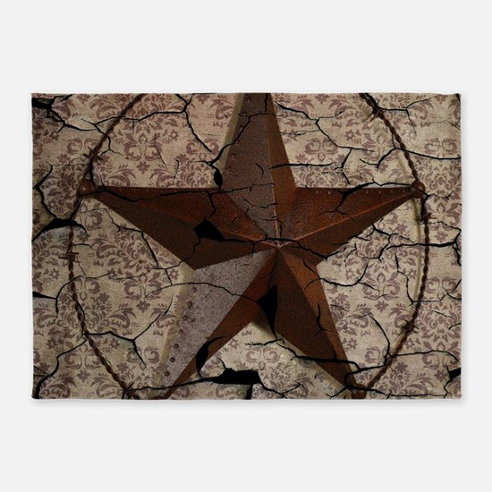 rustic texas lone star 5'x7'Area Rug