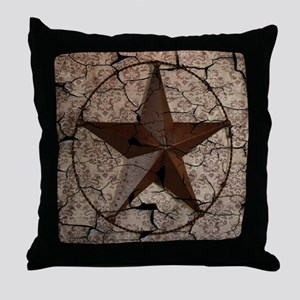 rustic texas lone star Throw Pillow
