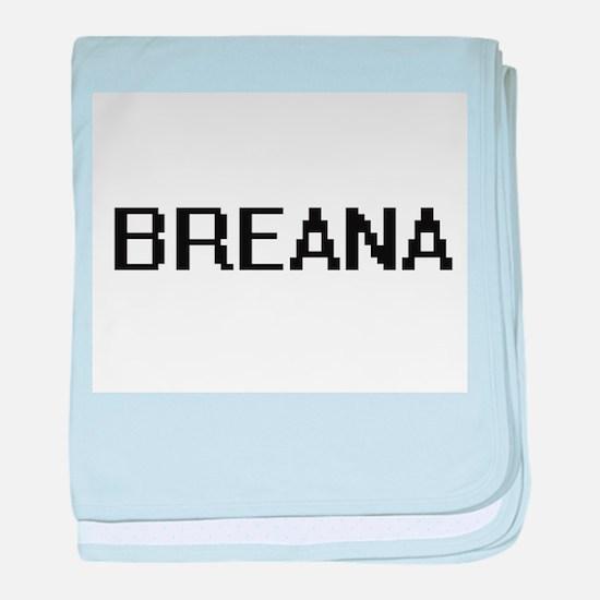 Breana Digital Name baby blanket