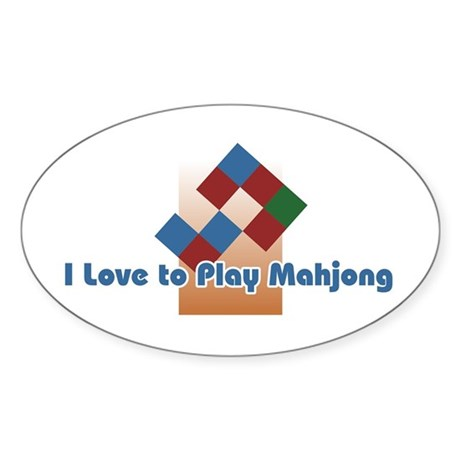 Mahjong Oval Sticker