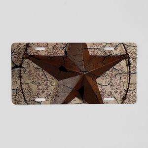 rustic texas lone star Aluminum License Plate