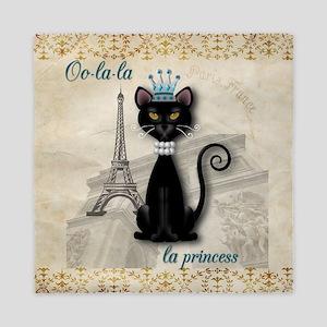 Oo-la-la French Kitty Princess Queen Duvet