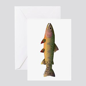 Cutthroat Trout stream Greeting Cards