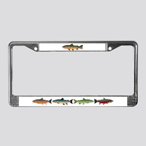 Cutthroat Trout stream License Plate Frame