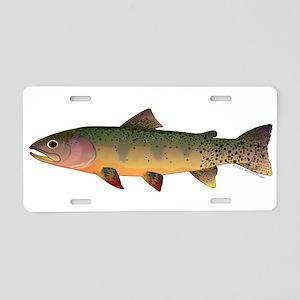 Cutthroat Trout stream Aluminum License Plate
