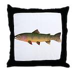 Cutthroat Trout stream Throw Pillow