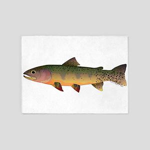 Cutthroat Trout stream 5'x7'Area Rug