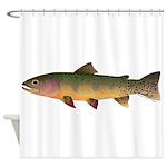 Cutthroat Trout stream Shower Curtain