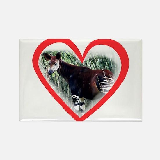 Okapi Heart Rectangle Magnet