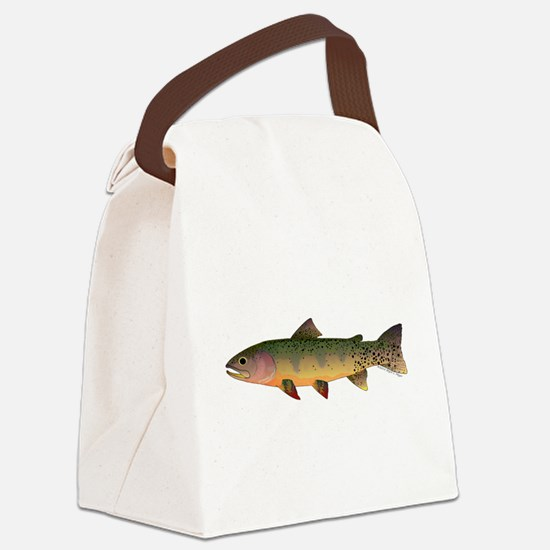 Cutthroat Trout stream Canvas Lunch Bag