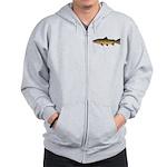 Cutthroat Trout stream Zip Hoodie