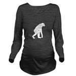 First Man Long Sleeve Maternity T-Shirt