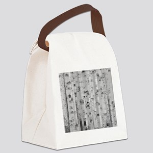 pixated aspen forest Canvas Lunch Bag