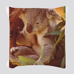 Koala Love Woven Throw Pillow