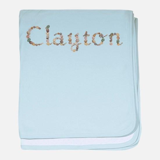Clayton Seashells baby blanket