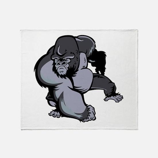 Big Gorilla Throw Blanket