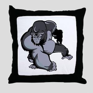 Big Gorilla Throw Pillow