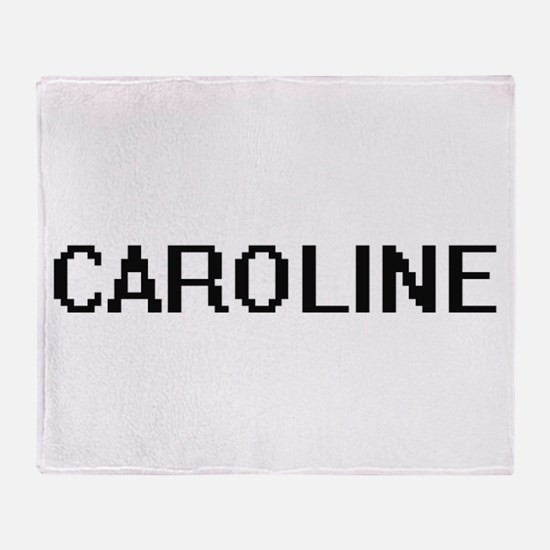 Caroline Digital Name Throw Blanket