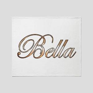Gold Bella Throw Blanket