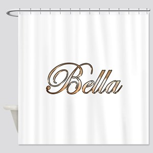 Gold Bella Shower Curtain