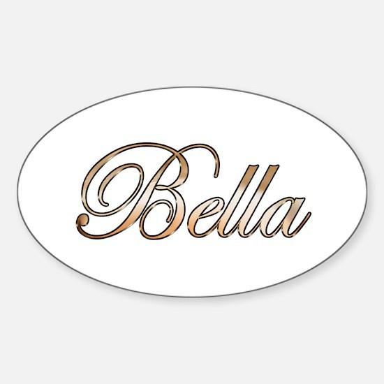 Gold Bella Decal