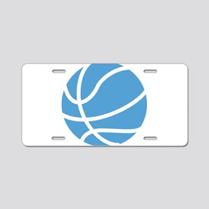 Basketball Carolina Blue Aluminum License Plate