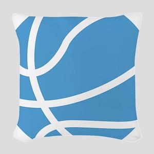 Basketball Carolina Blue Woven Throw Pillow
