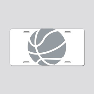 Basketball Grey Aluminum License Plate