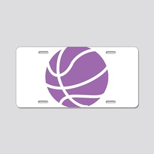 Basketball Purple Aluminum License Plate