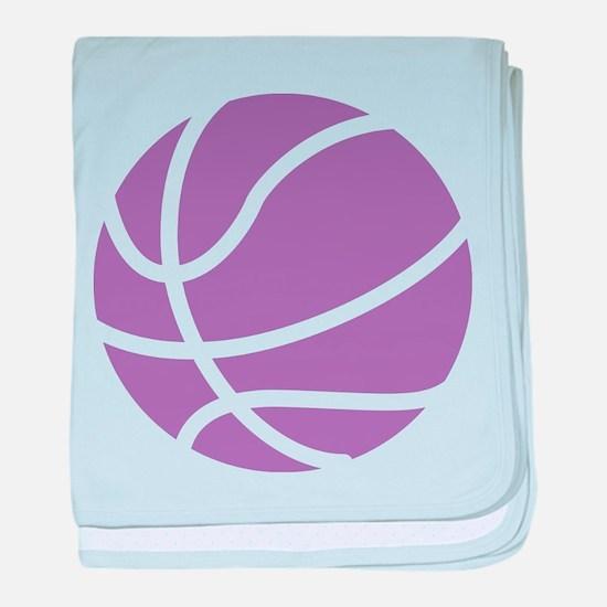 Basketball Purple baby blanket
